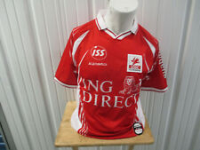 VINTAGE KIPSTA LILLE OSC MEDIUM RED HOME SEWN JERSEY 2001/02 KIT FRANCE PREOWNED