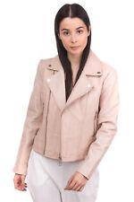 RRP €450 BA&SH Leather Biker Jacket Size 3 Fully Lined Pin Buckle Tabs Full Zip