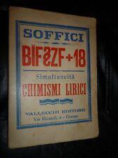 SOFFICI BIF ZF+18 SIMULTANEITA' CHIMISMI LIRICI nuova edizione accresciuta 1919