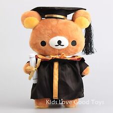 Anime Cosplay Dr. Rilakkuma Doctor Bear Plush Toy Soft Doll 12'' Graduate Gift