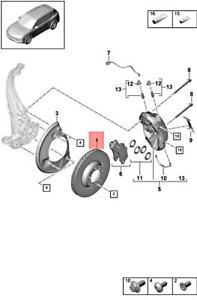 Genuine PORSCHE Cayenne 9YA Brake Disc Left Front 9Y0615301