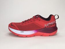 Hoka One One Womens Mach Sz 5.5 Red Lightweight Athletic Running Shoes