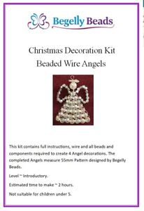 Beaded Wire Angels Kit - makes 4 jewellery making UK seller, fast dispatch