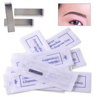 10x Microblading 14pin Klingen Tattoonadeln Augenbrauen Permanent Makeup