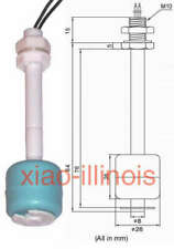 2 Pcs Plastic Float Switch Liquid Water Level Sensor Fish Tank 100mm Pool L X2
