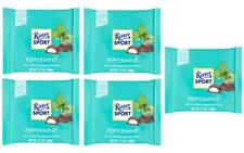 Ritter Sport PEPPERMINT chocolate square bars 100g (Pack of 5)