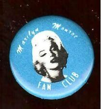 Marilyn MONROE pin FAN CLUB  Lovely Photo pinback button