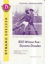OL 73/74  SG Dynamo Dresden - BSG Wismut Aue