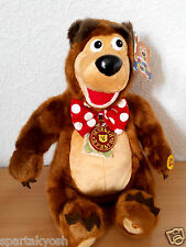 "Sound Plush toy Bear Mishka 28cm 11"" Russian cartoon ""Masha and the Bear"" Michka"