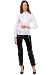 MY TWIN TWINSET Shirt Size S Round Hem Long Sleeve Button Front Mini Collar