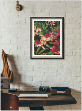 Floral Leaves Print Fashion Poster Home Interior Wall Picture Decoration A4