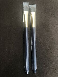 """Tarte Eye Shadow Makeup Brush Slender Eyeshadow 6"""" Purple Violet Handle set x 2"""