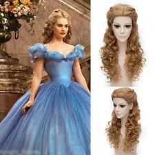 "Princess Cinderella Long Curly Brown Anime Cosplay Wig  with Braid 70cm/28"""