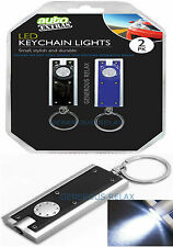 2 x ULTRA BRIGHT LED Flashlight CAMPING Mini Torch Lamp Light KeyRing