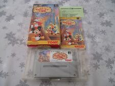 >> MICKEY IN TOKYO DISNEYLAND SFC SUPER FAMICOM JAPAN IMPORT COMPLETE IN BOX! <<