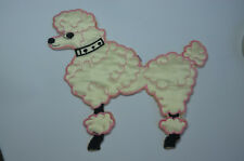 PADDED KITCH POODLE DOG  15cm Embroidered Sew Iron On Cloth Patch Badge APPLIQUE