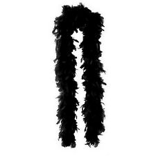 BLACK FEATHER BOA FANCY DRESS COSTUME PROP GREAT GATSBY FLAPPER GANGSTER PARTY