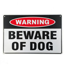 WARNGING  BEWARE OF DOG 200 x 300 mm Metal Security Home Farm Safe Sign 16003026
