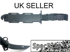 Airsoft Plastic M9 Style Rubber Blade Dummy Bayonet with Sheath Black UK