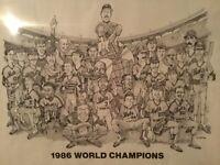 NY Mets VINTAGE 1986 World Series Champion Team Print *** VERY RARE ***