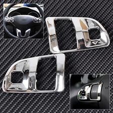 2 Chrome Interior Steering Wheel Trim Molding Cover for Kia Sportage R 2011-2015