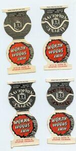 Littleton Colorado / 4 Match Book Covers, North Woods Inn, S Santa Fe - Vintage