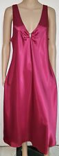 Vintage Delicates Pink High Shine Liquid Satin Long Sissy Flowing Nightgown M