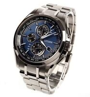 Citizen Attesa AT8040-57L Eco-Drive Solar Atomic Radio Watch from Japan New !