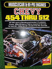 HOT ROD on CHEVY CHEVROLET 454>512 V8 BIG-BLOCK ENGINES tune modify book manual