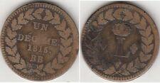 Monnaie Française Un Décime. Louis XVIII 1815 BB.