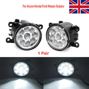 2x Front LED Fog Lights Lamps DRL For Ford Fiesta Focus Transit Connect MK6 MK7