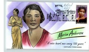BEVIL Hand Painted, MARIAN ANDERSON, Opera Singer, Black Heritage, first Day of