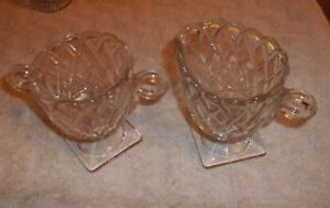 Clear Glass Sugar Bowl & Creamer