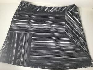 Lady Hagen Black/White/Striped Golf Casual  Skort Size 12