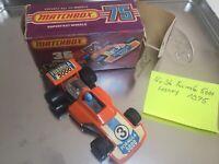Matchbox Superfast m ORIGINAL Verpackung Nr.36 Altes Spielzeug Auto Formula 5000