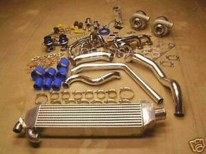 FOR FORD MUSTANG 1000 HORSEPOWER TWIN TURBO KIT 5.0L 5.0 Intercooled V8 302CI