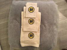 Notre Dame Monogramed Bath Towel Set (3 Towels)