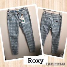 NWT Roxy Denim Diamond Pattern Jeans Size 7/28