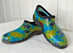 Sloggers Waterproof Rubber Garden Rain Shoes Women's 9M Multi-Colored Floral
