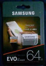 Samsung EVO  64GB MICROSDXC CLASS10 U3 4K ULTRA HD UP TO 100MB/S / New / UK