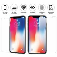 100x Lot Tempered Glass Screen Protector for iPhone XS XR MAX 6S 5 7 8 Plus