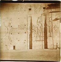 Egitto Geroglifici Foto Stereo Placca Da Lente Vintage P59L1n7
