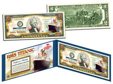 TITANIC RMS Ship * April 14, 1912 * Genuine Legal Tender U.S. $2 Bill Currency