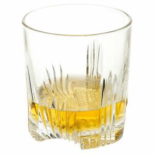 Bormioli SELECTA Whisky Tumbler Glasses Pair Italy DECO vibe Tri-footed