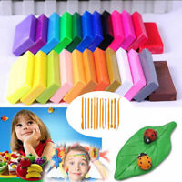 32 /36 Mixed Colors Oven Bake Fimo Polymer Soft Clay Modelling Moulding DIY Toys