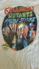 COMMUNIST MUTANTS FROM SPACE 1982 Promotional vintage licensed shirt LG Hanes