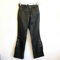 Harley Davidson Womens Leather Fringe Pants Size 2 Black NWOT