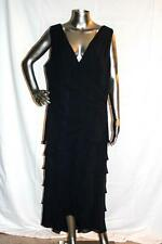 Womans TADASHI Collection Long Navy Blue Sleeveless SIlk Dress Size 18Q