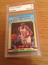 Michael JORDAN VINTAGE 1980s PSA baloncesto de la NBA Fleer trading card