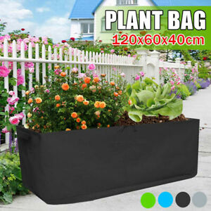 Black Fabric Raised  Bed Garden Planter Elevated Vegetable Box Planting Grow Bag